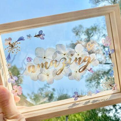 Real flowers Wreath Floating Frame ..